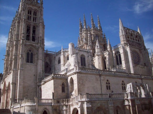 Burgos Cathedral on the road to Santiago