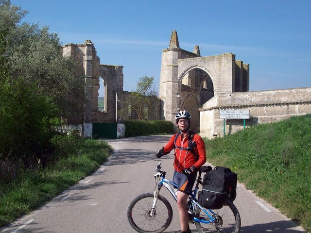 ruins on the road to santiago by bike