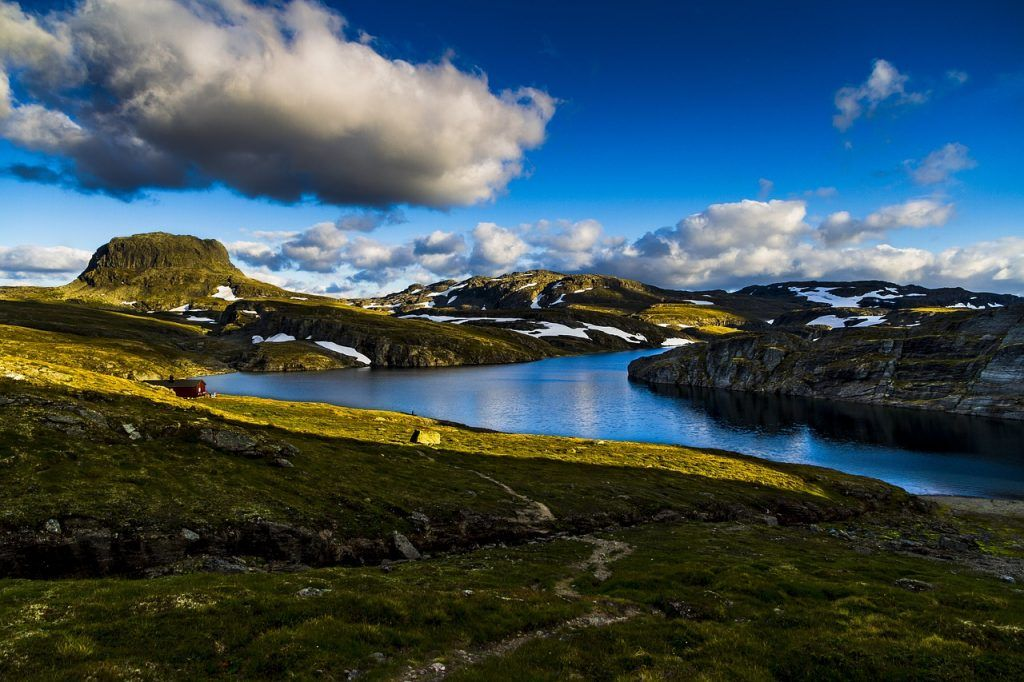 Paisaje desde el parque Nacional Hardangervidda